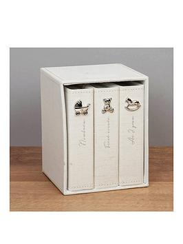 bambino-linen-fabric-set-of-3-albums-holds-4x6