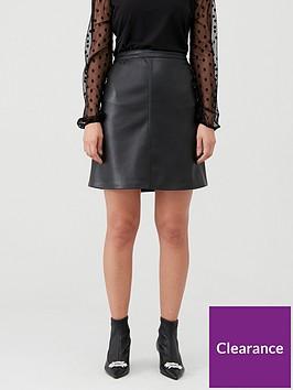 wallis-pu-aline-skirt-black