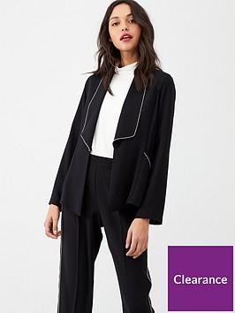wallis-diamante-trim-jacket-black