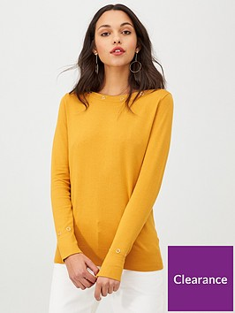 wallis-eyelet-neck-top-ochrenbsp