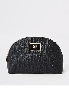 river-island-river-island-embossed-make-up-bag-black