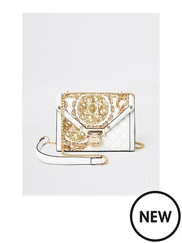 river-island-river-island-quilted-print-mix-cross-body-bag-white