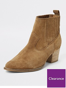 river-island-leather-western-ankle-boot