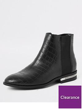river-island-river-island-croc-chain-detail-ankle-boot-black