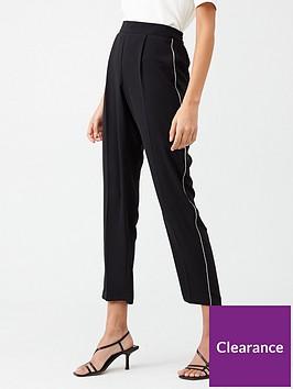 wallis-diamante-trim-trouser-black