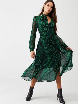 Wallis Wallis Abstract Animal Dress - Green Picture