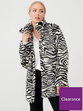 wallis-zebra-fur-midi-coat-whiteblack