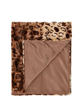 Cascade Home Cascade Home Leopard Luxury Textured Throw - Natural Picture