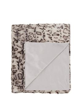Cascade Home Cascade Home Leopard Luxury Textured Throw - Grey Picture