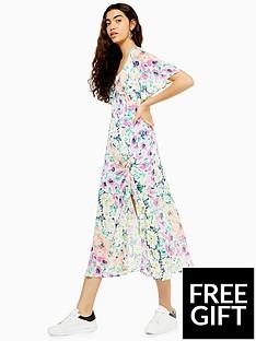 topshop-topshop-v-neck-print-angel-midi-dress-multi