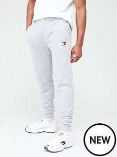 tommy-hilfiger-fleece-cuffed-tape-sweat-pants-light-grey-marl