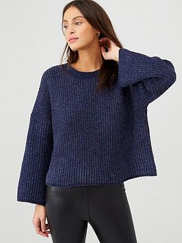 v-by-very-sparkle-knitted-jumper-blue