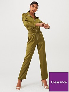 river-island-river-island-drawstring-waisted-boilersuit-khaki