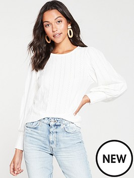 river-island-river-island-broderie-puff-sleeve-top--white