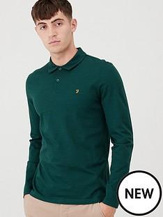 farah-ricky-long-sleeve-polo-shirt-emerald