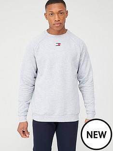 tommy-hilfiger-fleece-crew-neck-sweatshirt-light-grey-marl