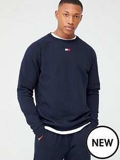 tommy-hilfiger-fleece-crew-neck-sweatshirt-navy