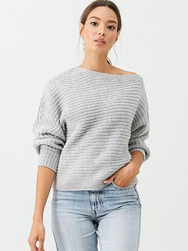 v-by-very-off-the-shoulder-horizontal-rib-slouch-jumper-grey