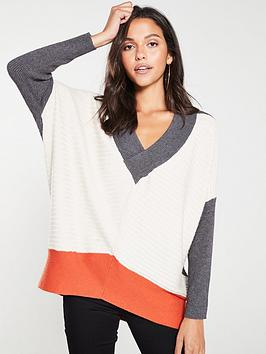 river-island-river-island-v-neck-grey-block-knitted-jumper-grey