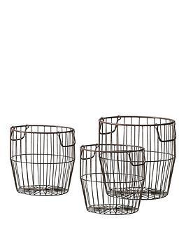 Gallery Gallery Leeton Metal Baskets - Set Of 3 Picture