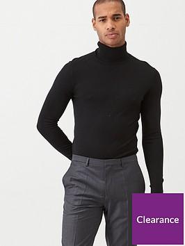 ted-baker-fitted-roll-neck-jumper-black