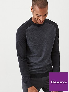 ted-baker-topup-striped-crew-neck-jumper-grey-marl