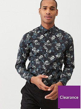 ted-baker-revoir-long-sleeved-floral-print-shirt-navy