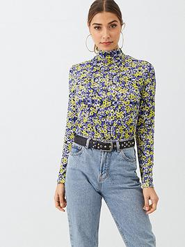 V by Very V By Very Printed High Neck Top - Ditsy Picture
