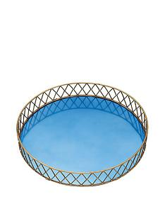 barcraft-barcraft-stainless-steel-blue-and-brass-finish-serving-tray