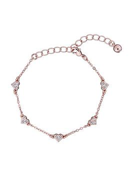 Ted Baker Ted Baker Neleaha Nano Heart Charm Bracelet - Rose Gold/Crystal Picture