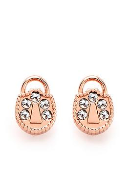 Ted Baker Ted Baker Ted Baker Pamza Mini Pave Padlock Stud Earring Picture