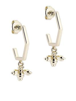 ted-baker-bedza-bumble-bee-hoop-earrings-light-gold