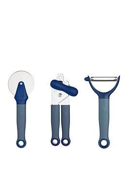 Colourworks   Set Of 3 Kitchen Gadgets &Ndash; Navy Blue
