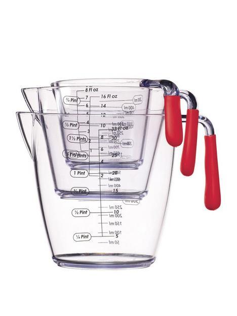 colourworks-red-acrylic-measuring-jugs-ndash-set-of-3