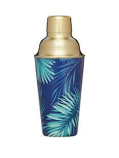 barcraft-barcraft-brass-finish-stainless-steel-tropical-leaves-cocktail-shaker