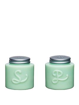 Kitchencraft Kitchencraft Milk Glass Salt And Pepper Shakers Picture