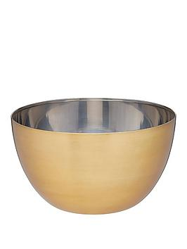 Masterclass Masterclass Stainless Steel Brass Finish 24 Cm Mixing Bowl Picture