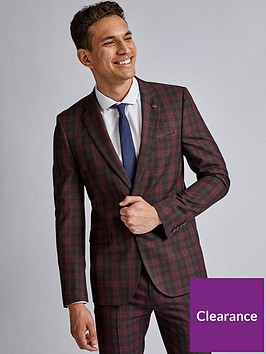 burton-menswear-london-burton-red-black-tartan-skinny-suit-jacket-red