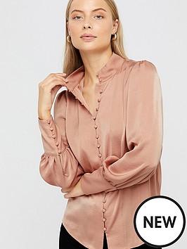 monsoon-penny-button-through-blouse-blush