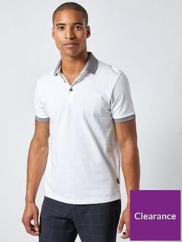burton-menswear-london-burton-jacquard-collar-polo-shirt-white