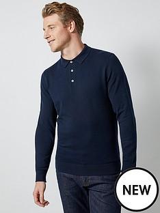 burton-menswear-london-burton-knitted-polo-top-navy