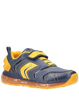 Geox Geox Boys Android Strap Trainers - Navy/Yellow Picture