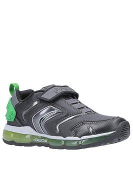 Geox Geox Android Strap Trainers - Black/Green Picture