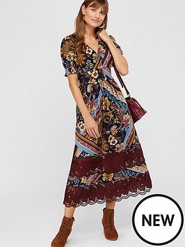 monsoon-ruby-print-lace-insert-jersey-midi-dress-berry
