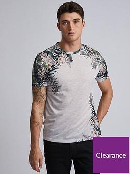 burton-menswear-london-burton-floral-print-t-shirt-grey-marl