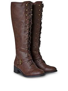 joe-browns-sweet-talkin-lace-up-boots-brown