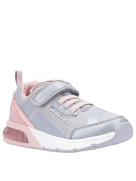 Geox Geox Girls Spaceclub Strap Trainers - Grey/Pink Picture