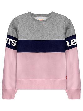 levis-girls-colourblock-logo-crew-sweat-top-grey