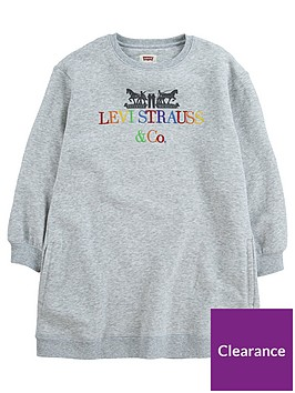 levis-girls-multi-logo-sweat-dress-grey