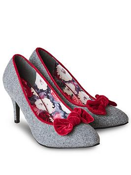 Joe Browns Joe Browns Rockefeller Velvet Bow Shoes - Multi Picture